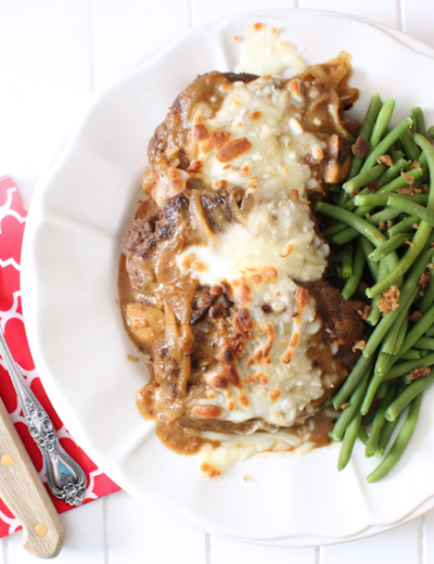 French Onion Salisbury Steak (THM S • Keto • GF)