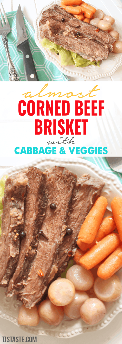 Almost Corned Beef Brisket with Cabbage and Veggies