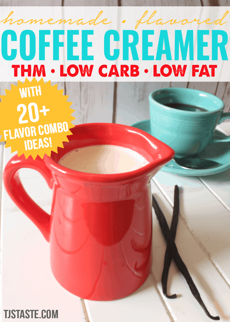 creamer • homemade flavored coffee creamer • thm, low carb, low fat