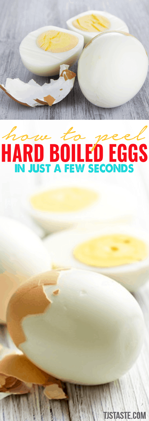 How to Peel Hard Boiled Eggs in Just a Few Seconds • TJsTaste.com