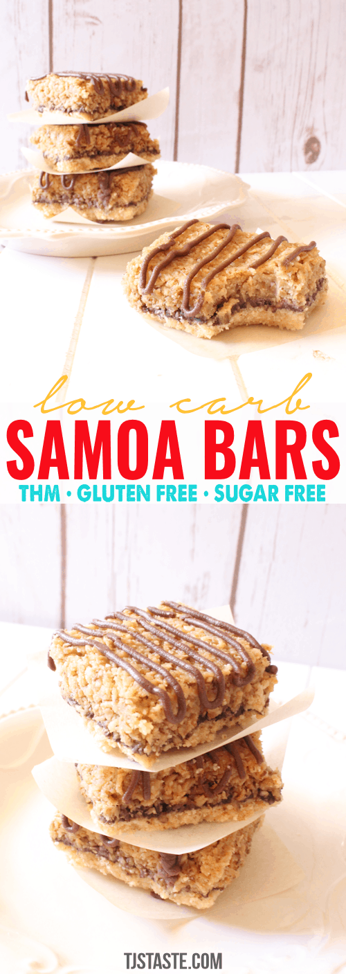 Low Carb Samoa Bars