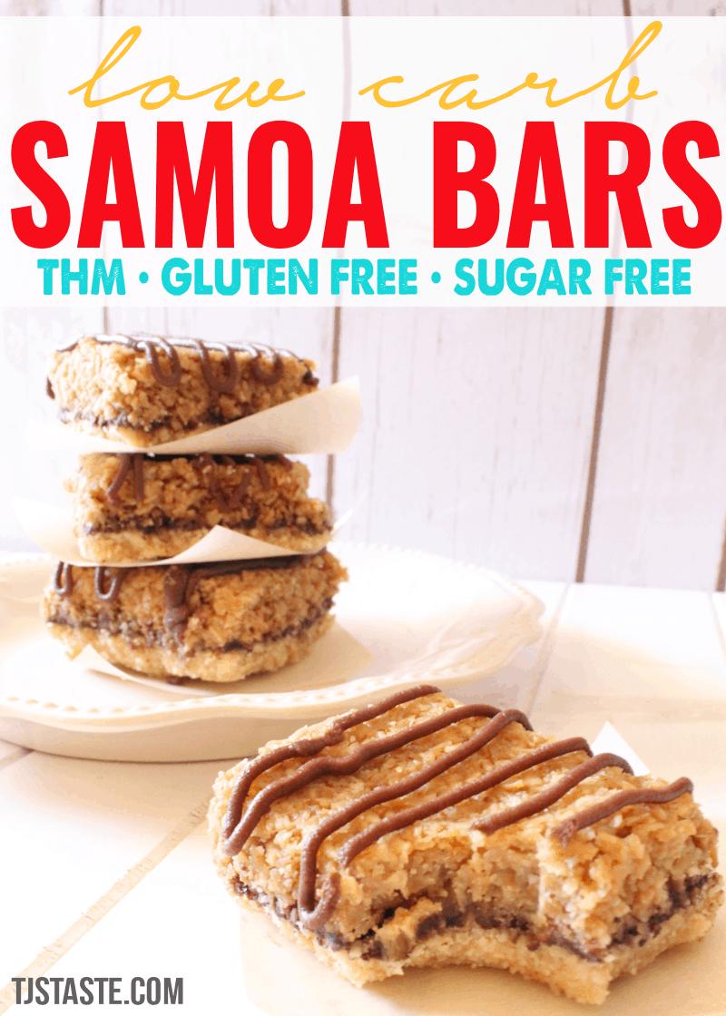 Low Carb Samoa Cookie Bars