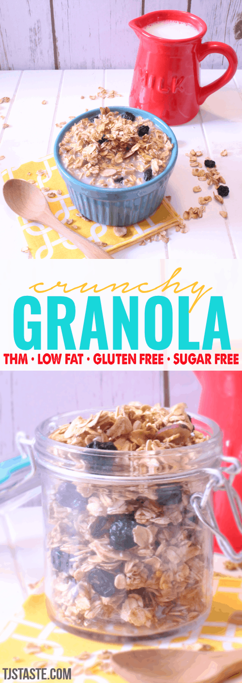 Crunchy Granola • THM E • Low Fat • Sugar Free • Trim Healthy Mama