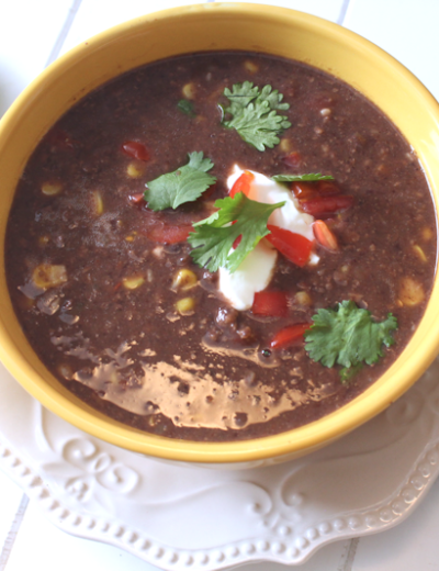 Easy Black Bean Soup THM E • Low Fat • Gluten Free