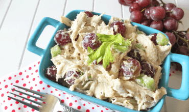 "<span class=""entry-title-primary"">Chicken and Grape Salad</span> <span class=""entry-subtitle"">THM E • Low Fat • Gluten Free</span>"