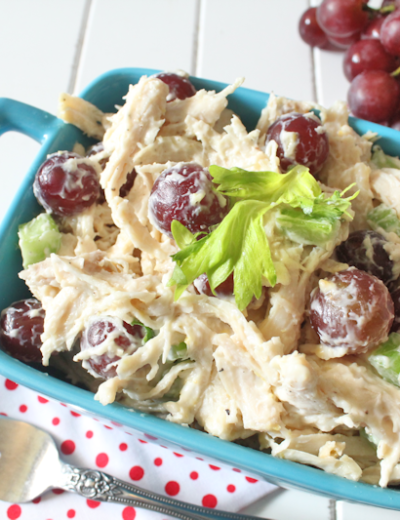 Chicken and Grape Salad THM E • Low Fat • Gluten Free