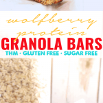 Wolfberry Protein Granola Bars