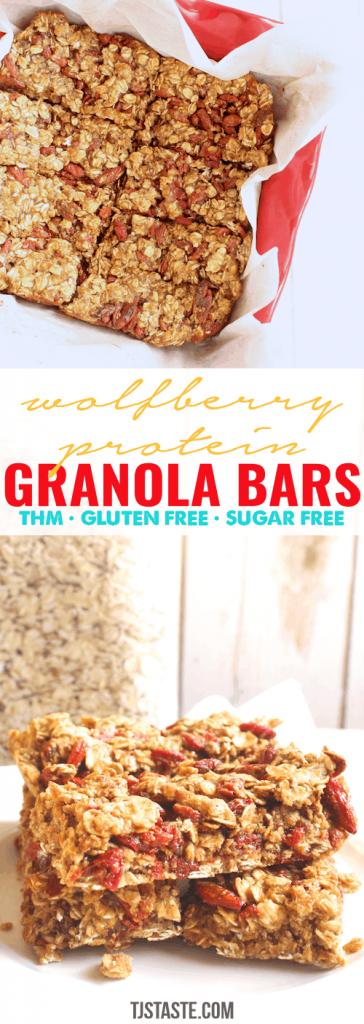 Wolfberry Protein Granola Bars