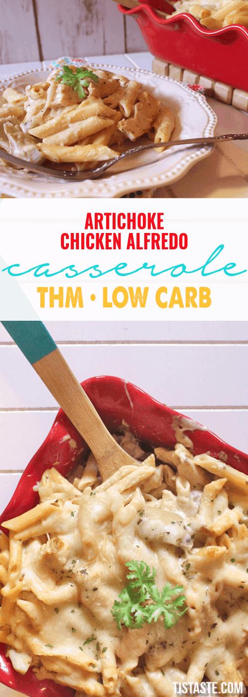 Artichoke Chicken Alfredo Casserole