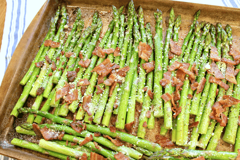 Bacon and Parmesan Roasted Asparagus
