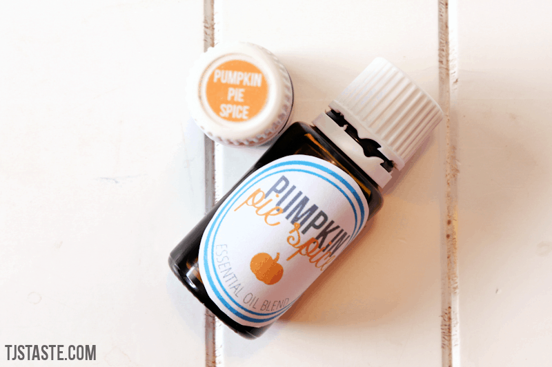 Pumpkin Pie Spice Essential Oil Blend Labels