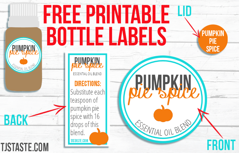 Pumpkin Pie Spice Essential Oil Blend Printables