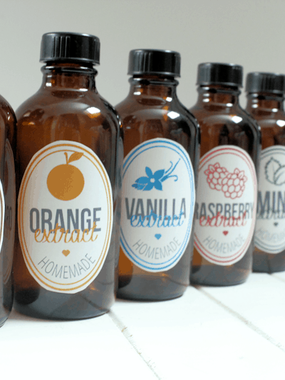 15 Homemade Flavor Extracts (Plus Free Printable Labels)