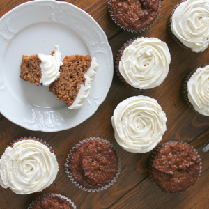 Low Carb Pumpkin Muffins With Maple Frosting from Northern Nester