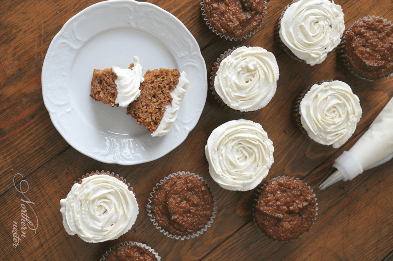 Pumpkin Muffins With Maple Frosting from Northern Nester