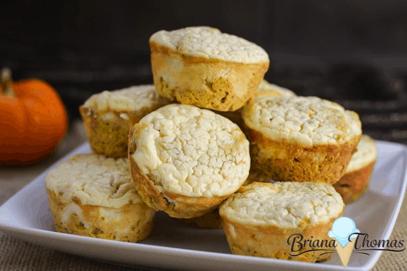 Pumpkin Cheesecake Muffins from Briana Thomas