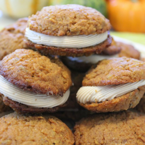 Pumpkin Pecan Cream Cookies from My Fling with Food