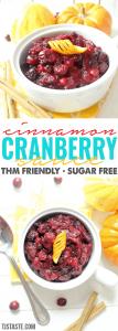 Cinnamon Cranberry Sauce