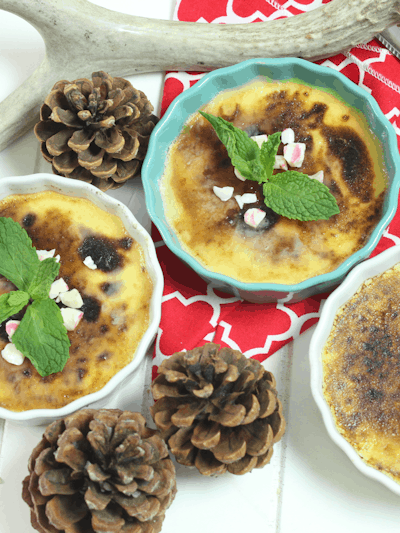 Peppermint Crème Brûlée THM S • Low Carb • Keto • Sugar Free • Gluten Free