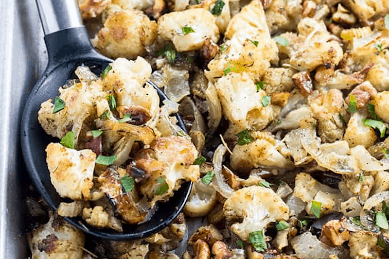 Low Carb Paleo Cauliflower Stuffing