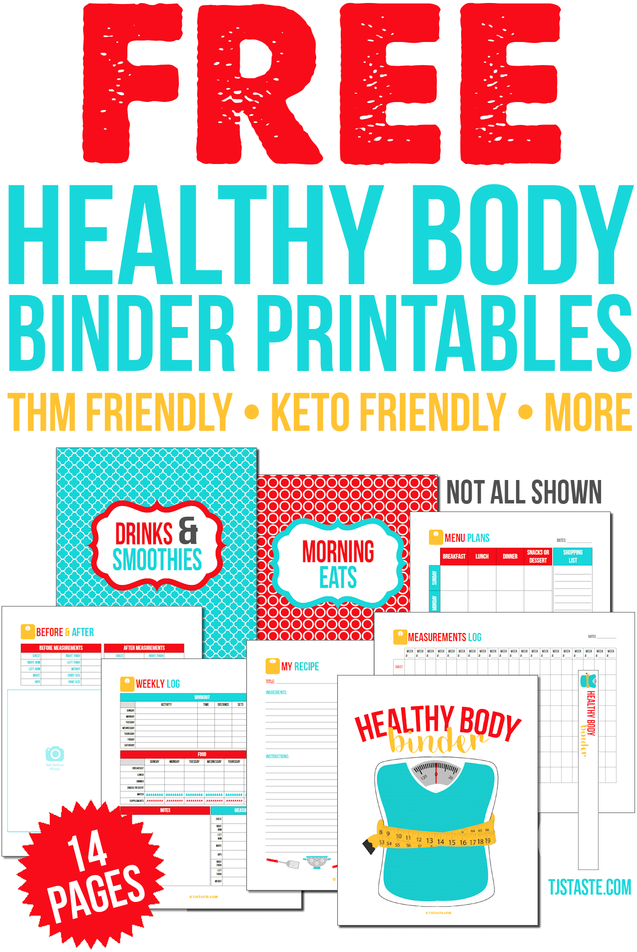 THM, Keto, etc. Healthy Body Binder Printables