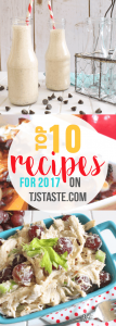Top 10 Recipes for 2017
