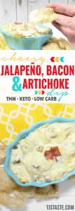 Cheesy Jalapeno, Bacon, and Artichoke Dip
