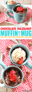 Chocolate Hazelnut Muffin in a Mug