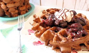 "<span class=""entry-title-primary"">Healthy Carb Black Forest Waffles with Cherry Compote</span> <span class=""entry-subtitle"">THM Friendly • Healthy Carb • Low Fat</span>"