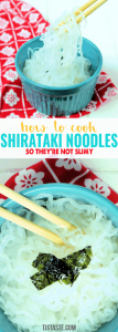 How to Cook Shirataki Noodles