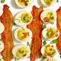 Bacon and Scallions Deviled Eggs