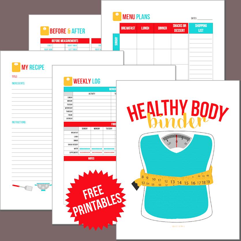 Get Your FREE Healthy Body Binder Printables • TJ's Taste