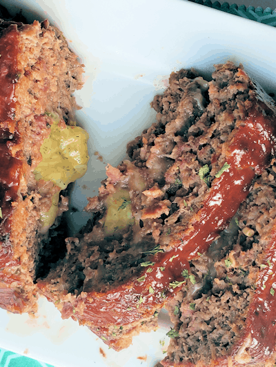 Three Cheese Stuffed Meatloaf (THM S • Keto)