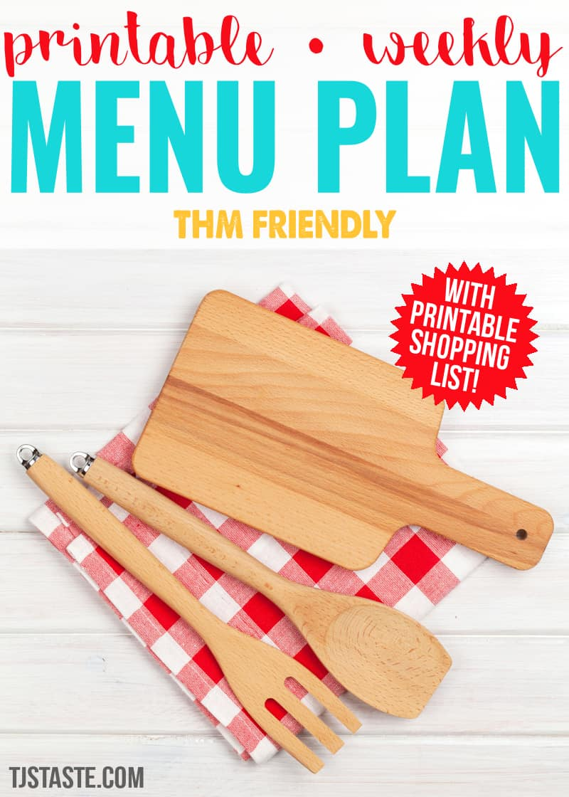 Menu Plan Week 1