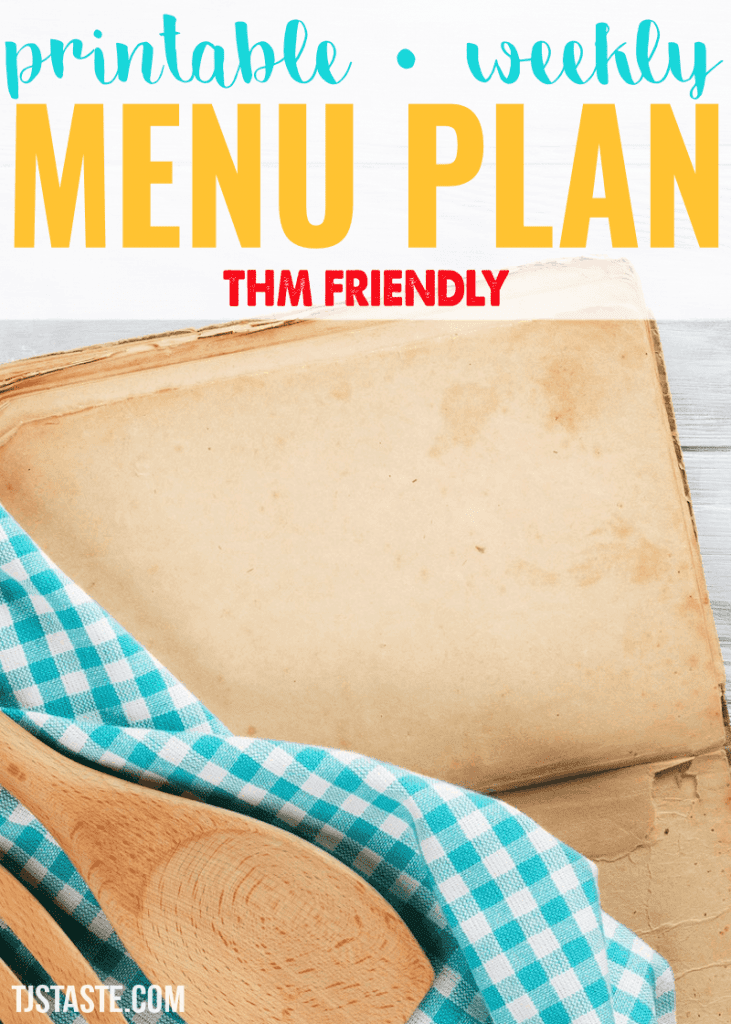 Menu Plan Week 2