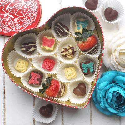 DIY Valentine's Chocolate Heart Box