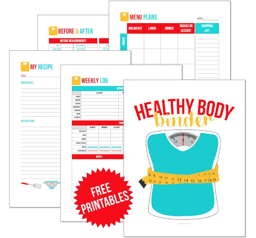 THM, Keto, etc. Healthy Body Binder Printables