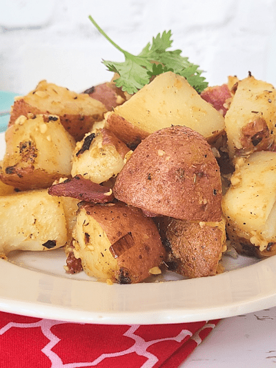 Red Hash Brown Potatoes with Bacon