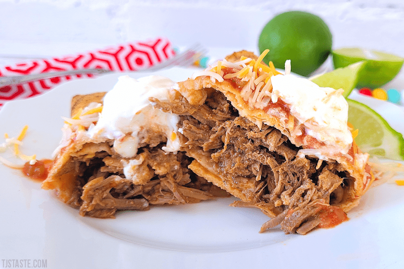 Low Carb Beef Chimichangas