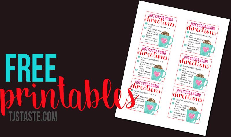 Valentine's Hot Cocoa Bombs Printables